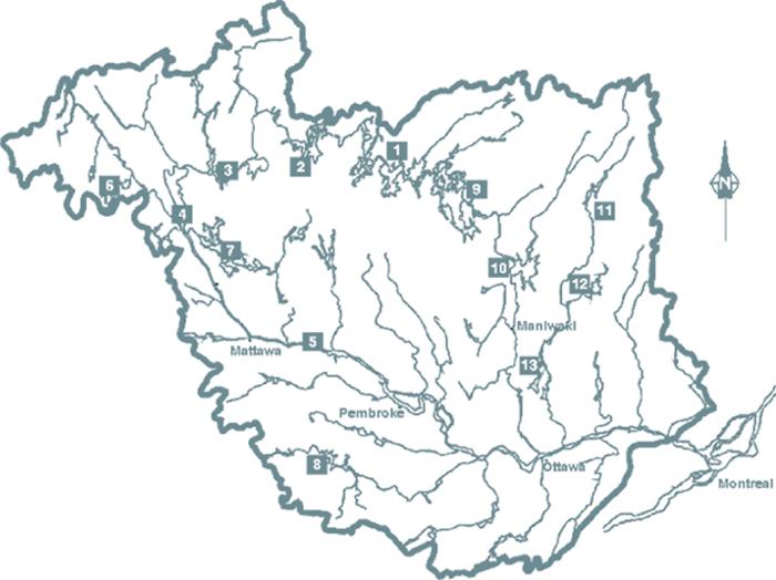 The ottawa river basin